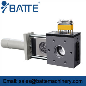 Single slide plate screen changer