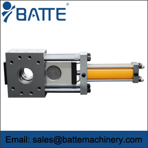 Single-plate hydraulic screen changers